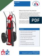 Extintor 20B-C de Dióxido de Carbono de 50 a 100 lb