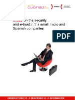 Study on the Security and Etrust in the Small Micro and Spanish Companies - English Version. By INTECO
