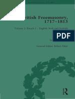 Jan A. M. Snoek (Ed.) - British Freemasonry, 1717–1813, Volume 2_ Rituals I – English, Irish and Scottish Craft Rituals. 2-Routledge (2016)