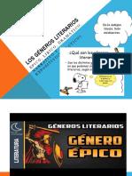 LITERATURA GÉNEROS LITERARIOS (2DO)