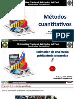 05 Estimacion de Una Media Poblacional Des. Est. Pob. Conocida Z
