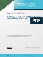 Cultura, Sociedad y polìtica. Nuevas miradas sobre Brasil - Ana Bugnone, coord.