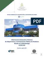 InformacioIÌ_Â_n de EvaluacioIÌ_Â_n al Sistema de Adquisiciones y Contrataciones PuIÌ_Â_blicas de Honduras basada en MetodologiIÌ_Â_a OCDE_CAD