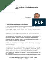 As Informações Estratégicas. A União Europeia e a