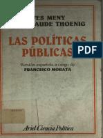 Meny, Thoenig, La decisión pública