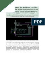 La mensajería IEC 61850 GOOSE de NOJA Power