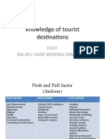 Push Factor and pull Factor - Tourism
