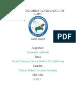 Reporte de Lectura # 6 y 7, El sector externo y sector publico, la inflacion y el desempleo.