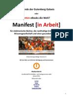 Manifest für eBooks, Wissensgesellschaft und Umwelt