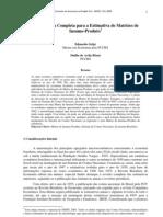 Metodologia Completa Para a Estimativa de Matrizes