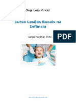 Curso Lesoes Bucais Na Infancia