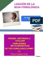 Tema 2.  EVALUACIÓN DE LA CONCIENCIA FONOLÓGICA 20