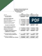 Analisis Vertical y Horizontal Solpack 2018-2017