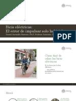 El error de impulsar solo la bicicleta Pre-Foro Nacional de la Bicicleta