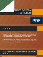 DE LOS DELITOS CONTRA EL HONOR Y LIBERTAD SEXUAL