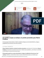 Así justificó el juez su rechazo a la prisión preventiva para Martín Pradenas - AS Chile