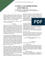 INFORME DE LABORATORIO # 1 INTRODUCCIÓN A LAS MEDICIONES ELÉCTRICAS