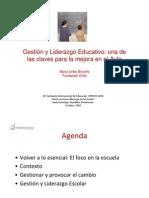 Gestion y Liderazgo Educativo - Dr. Mario Uribe