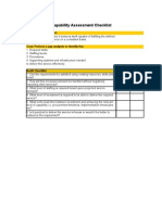 Itsm and Itil Capability Assessment Checklist