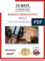 eBook 20 Ways to Improve Business Presentation Skills