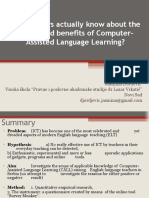 Do teachers actually know about the scope and benefits of Computer-Assisted Language Learning.ppt
