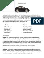 car comparison project copy