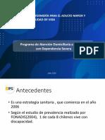 Programa  Atención Domiciliaria a Personas con Dependencia Severa.