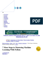 7 More Steps to Mastering Machine Learning With Python -page1