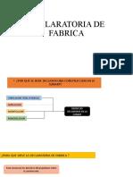 DECLARATORIA DE FABRICA