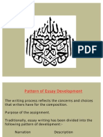 Pattern of Essay Development
