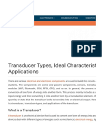 Different Types of Transducers and Their Applications