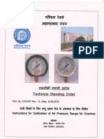 Technical Standing Order - Instructions for calibration of Air Pressure Gauge for Coaches