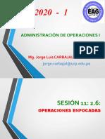 SESIÓN 11  2.6 Operaciones enfocadas 2.7 Etapas de la efectividad de las operaciones