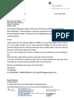 Draft regarding non working condition of lights at Garware Flyover