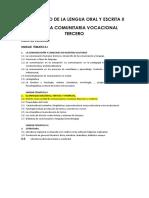 DESARROLLO DE LA LENGUA ORAL Y ESCRITA II