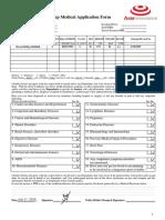 Group Medical Application Form