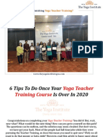 What to Do After Finishing Yoga Teacher Training
