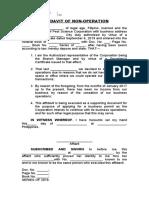 Affidavit of no income (sample)
