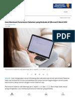 Cara Membuat Penomoran Halaman yang Berbeda di Microsoft Word 2016 - Tirto.ID