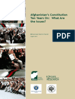 Afghanistan's Constitution Ten Years On- What Are the Issues? 2014
