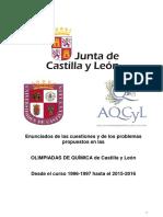Olimpiadas Química CyL 1996-1997 hasta el 2015-2016