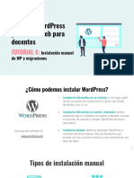 Tutorial 4. Instalación manual de WP y migraciones.
