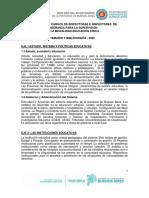 INSPECTOR - EDUCACIÓN FÍSICA - 2020