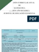MATEMATICAS PCA 4TO. EGB