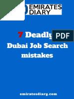 7 Deadly Dubai Job Search Mistakes by Deepak Machado Emirates Diary Free