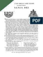 Camera Apostolica - Rito ed uso delle cere sagre volgarmente chiamate Agnus Dei.pdf