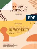 DYSPEPSIA SYNDROME