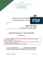 JB_T Translated English of Chinese Standard_ JB_T