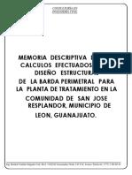 20200623 MEMORIA DE CALCULO DE BARDA PERIMETRAL PTAR JOSE RESPLANDOR LON.pdf