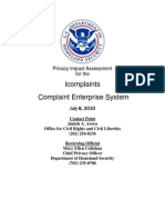 Department of Homeland Security - Icomplaints Complaint Enterprise System